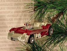 TWANG THANG GUITAR CAR SILVER DARK RED CHRISTMAS ORNAMENT XMAS