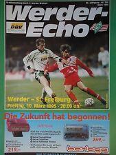 Programm 1994/95 SV Werder Bremen - SC Freiburg