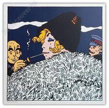 Affiche Sérigraphie Hugo Pratt Corto Maltese Marina Seminova 50x50 cm
