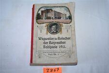 Wegweiser für Besucher der Bayreuther Festspiele 1911 Buch Stadtplan