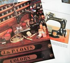 18p History Article + Color Pics -   Antique Singer Sewing Machines & Products