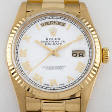 Rolex ♛ Men's President Day-Date Automatic 18k Yellow Gold Watch 36 mm