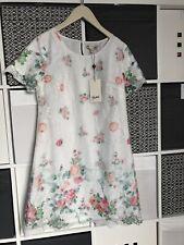 BNWT Girls Yumi Dress age 12 Tunic Style white with floral chiffon overlay.