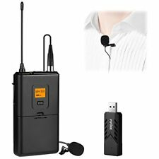 Wireless Microphone PC & Mac, Lavalier Clip-on Unidirectional Condenser USB