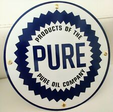 Pure Gas Oil gasoline sign . Free shipping on any 8 signs