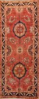 Vintage Sultanabad Geometric Runner Rug Oriental Hallway WOOL Hand-Knotted 4x9