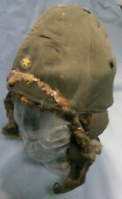 Vintage WWII Japanese winter helmet japan Cap Hat M0822