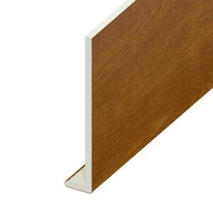 1m / 1.25m UPVC Golden Oak Capping Board 9mm Soffit Fascia