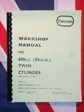 Shop Manual Fits Triumph T120 Bonneville TR6 Tiger  1971 1972 1973  Oil in Frame