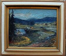 Nils Forsberg * 1921, paysage chez ullanger, verso datée 1965
