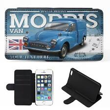 Personalised Morris 1000 Van iPhone Flip Case Classic Car Phone Cover CL36