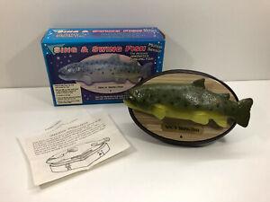 Sing and Swing Fish singender Fisch mit Bewegungssensor Rarität Sing N' Swing
