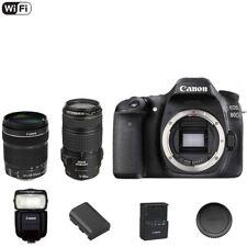Canon 80 D / 80D DSLR Camera Body + EF-S 18-135mm + 70-300mm Lens + 430 Flash