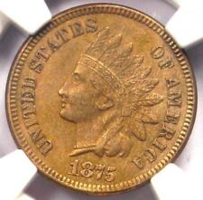 New listing 1875 Indian Cent 1C - Ngc Uncirculated Details - Rare Early Unc Ms Bu Penny!