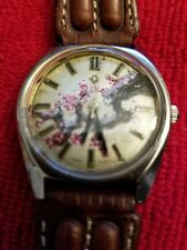 """OLMA MANUAL VINTAGE WATCH WITH HAND PAINTED DIAL """"Winterblossoms"""" 2 of 5"""