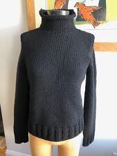APC Black chunky wool turtle neck sz M