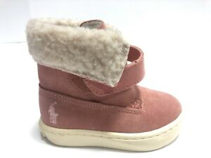 Ralph Lauren Polo, Siena Bootie, Pink Slip On Casual Boot Toddler Girl's Size 4M