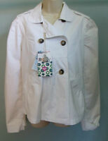 ROXY White Jacket NEW Large L Lucy Tumble Ladies Quicksilver Surf