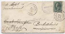 1881 Wellington Ohio fancy county marking forwarded and unclaimed