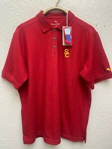 Tommy Bahama Collegiate Emfielder Polo USC Red Polo NWT sz Large