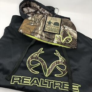 Realtree Hoodie Pullover & Beanie Large Men's Camo Hunting Combo Set Bundle #46