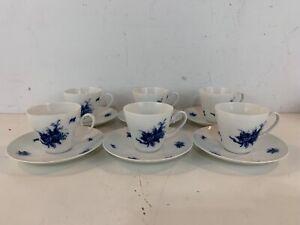 Vintage Rosenthal Rhapsody Romance Porcelain Set of 6 Cups & Saucers
