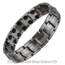 NEW Mens MAGNETIC BRACELET Gun Metal Colour 36 Magnets Hi Strength Rare Earth