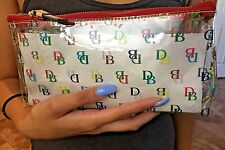 NWT Dooney Bourke cosmetic bag case clear sporting events concerts Plastic DB26
