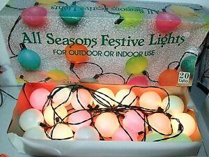 Vintage Retro Outdoor Patio Camper Party Lights, 20 Plastic Balls, Kurt Adler