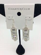 $38.50 Charter Clud silver tone crystal multi chain drop earrings Ha19