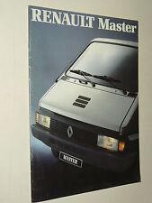 Prospectus Camion RENAULT MASTER Fourgon 4/89 RVI prospekt brochure  truck LKW