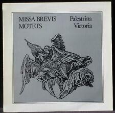 Palestrina Missa brevis Victoria Trouvères de Colmar Robert Halter LP & CV NM -