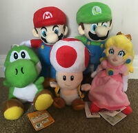 Super Mario Plush Toys - Choice of 5 Classic Heroes Teddies or Full Set - NEW