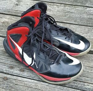 Nike Prime Hype DF 683705-006 Men's Black/Red/White Basketball Shoes Size 10