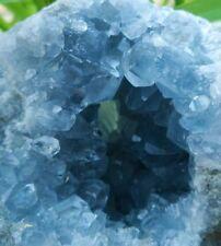 F2536 Natural Sky Blue Celestite Crystal Geode/Cave Mineral Specimen 1240g