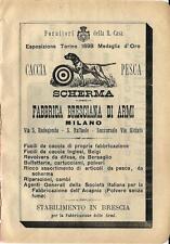 Stampa antica pubblicità FABBRICA BRESCIANA DI ARMI 1899 Old antique print