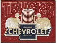 Chevy Truck Metal Tin Sign Chevrolet Gm Garage Home Man Cave Wall Decor New