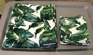 Tommy Bahama Tropical Palm Banana Bamboo Bath Towels Hand Towels Lot Of 5 New