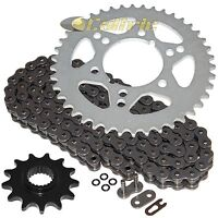 Caltric Green Drive Chain And Sprockets Kit Compatible With Kawasaki Tecate Kxt250A 1984 1985