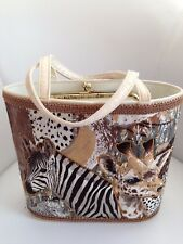 Vintage Marilyn Levine Designer Purse -African Animal Theme -Coin Purse Built In