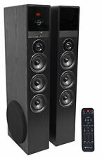 """Rockville TM150B Bluetooth Home Theater Tower Speaker System (2) 10"""" Subwoofers!"""