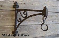Hanging Basket Bracket Cast Iron Lantern Pivot Hook Victorian Antique Vintage