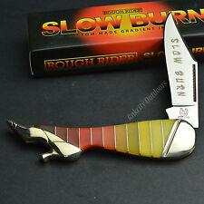ROUGH RIDER 440 Stainless Slow Burn Multi-Color Folding Leg Knife RR1439
