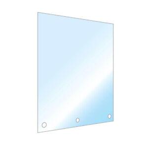 Anti-Spuck-Wand, Nies- + Spuckschutz, zum anschrauben, variable Größen, Corona