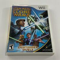 Star Wars the Clone Wars Lightsaber Duels Nintendo Wii
