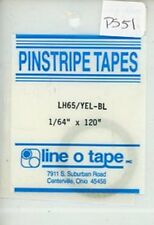 """Line O Tape 1/64"""" x 120"""" Pinstripe Masking Tapes LH65 / Yellow Blue #PS51"""