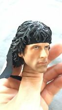 Custom 1/6 Scale Sylvest Stallone Rambo Head Sculpt For PHICEN/Ganghood Body