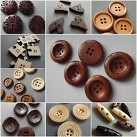 Wood 10/25/30mm round toggle brown Sewing Buttons Crafts Classic & Simple Adults