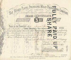 Südamerika 1872: The River Plate Pressure Meat-Preserving Company