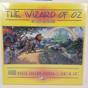 """SEALED Wizard of Oz Puzzle by Scott Gustafson 1000 Piece SunsOut 16 """"x 34"""""""